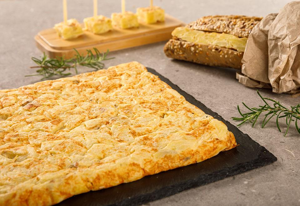 Rectangular Spanish Omelettes