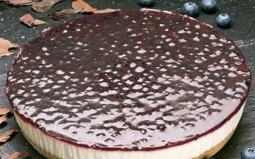 Tarta queso arándanos
