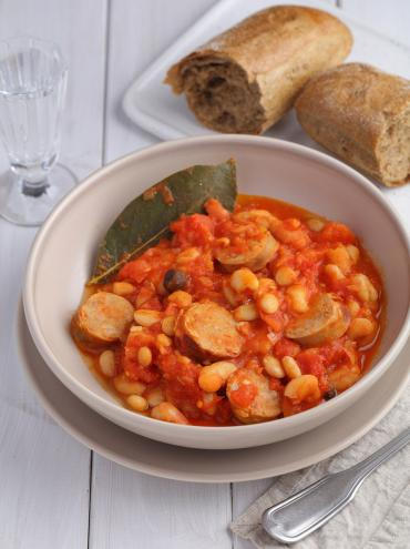 Butter beans with Palacios chorizo