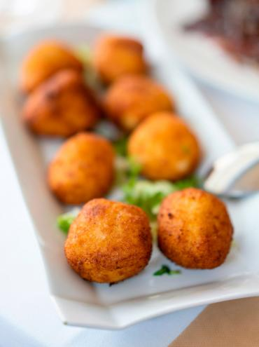 Palacios chorizo and rice croquettes